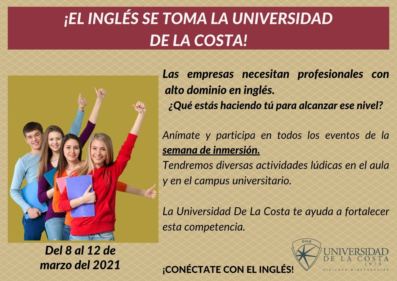 El Inglés se toma la Universidad de la Costa