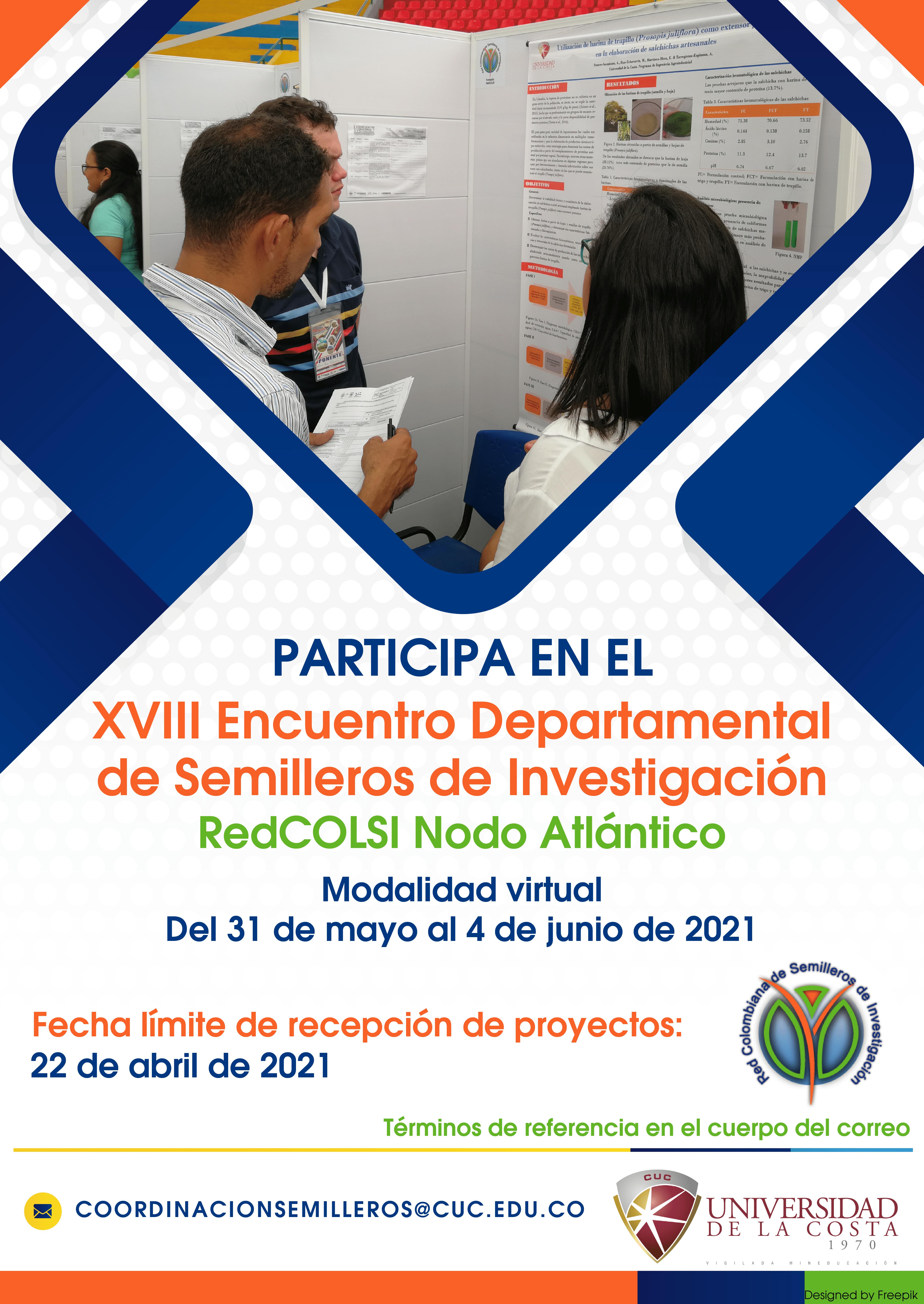 XVIII Encuentro Departamental de Semilleros de Investigación – RedCOLSI Nodo Atlántico