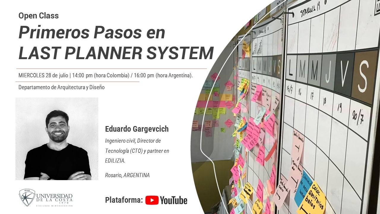 Open Class: primeros pasos en last planner system