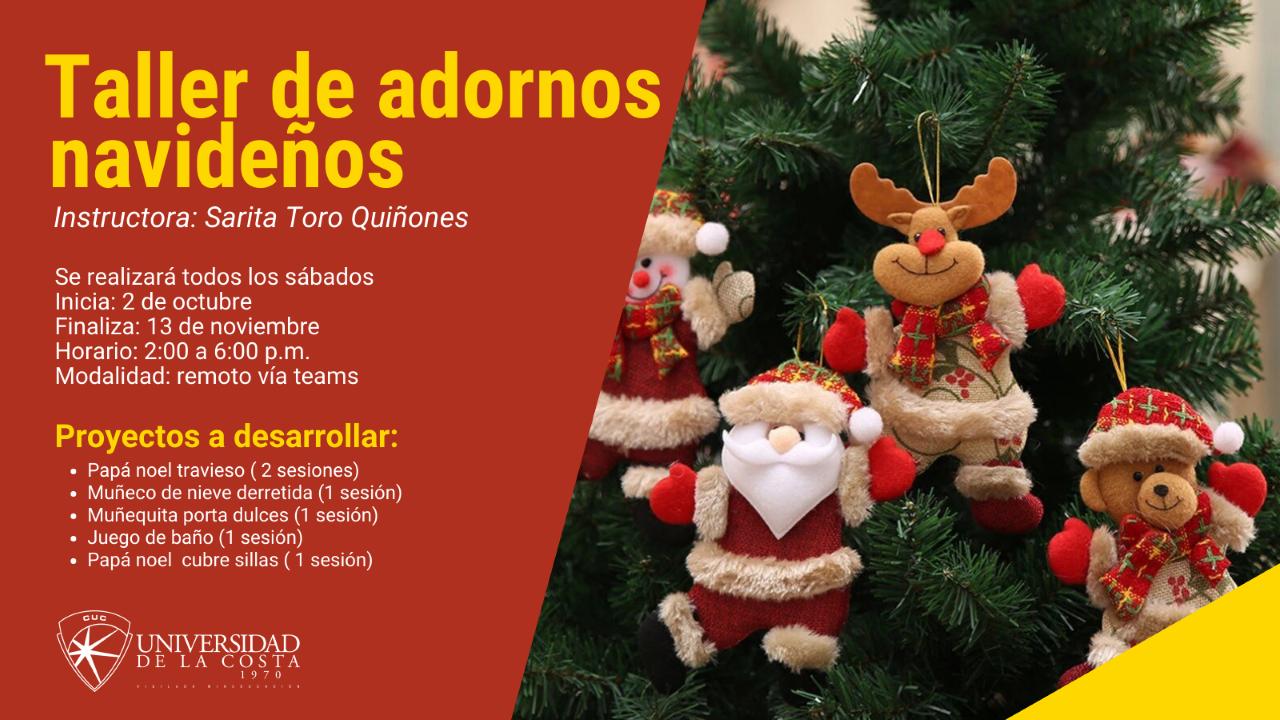 ¡Participa del Taller de adornos navideños!