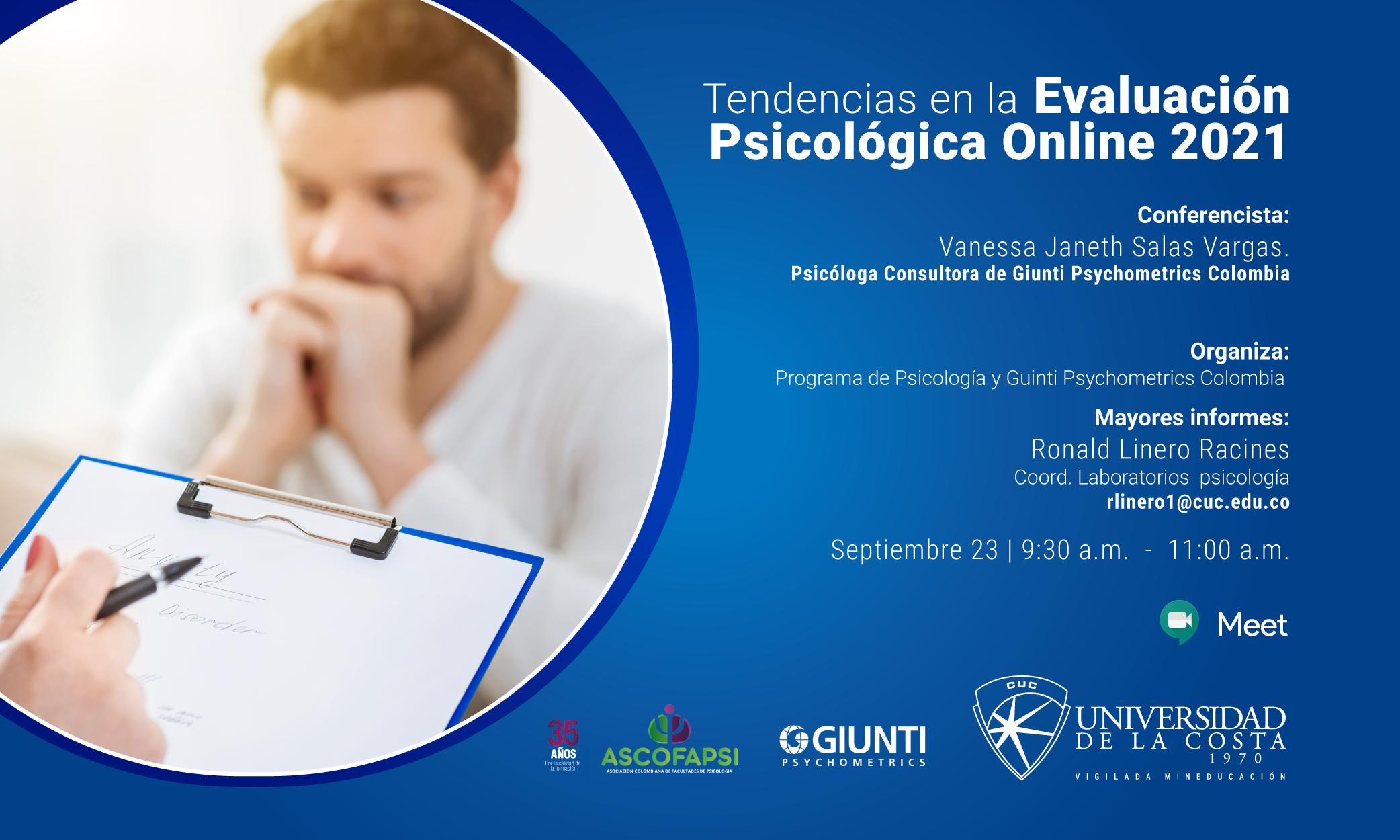 Tendencias en la evaluación Psicológica Online 2021