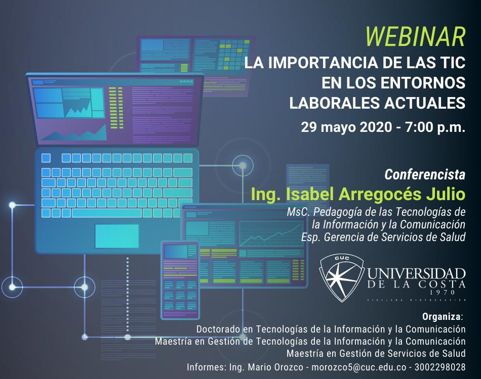 """Webinar """"La importancia de las TIC en los entornos laborales actuales"""""""