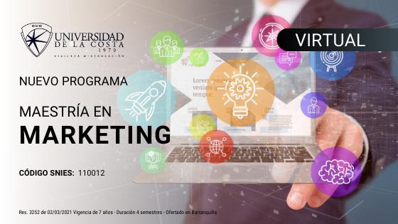 Maestria en Marketing metodologia virtual