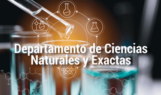 Dpto. de Ciencias naturales y exactas