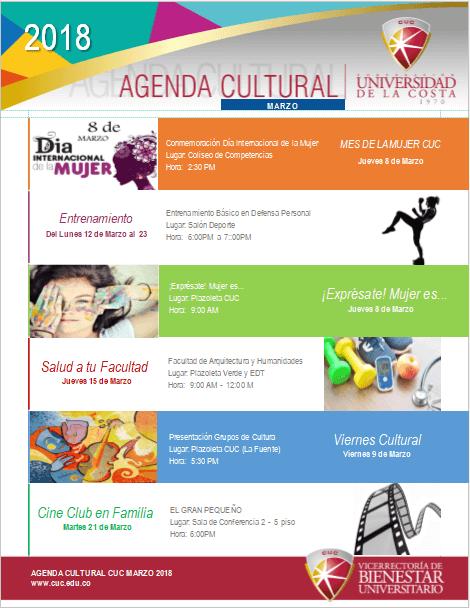 Agenda Cultural Marzo1