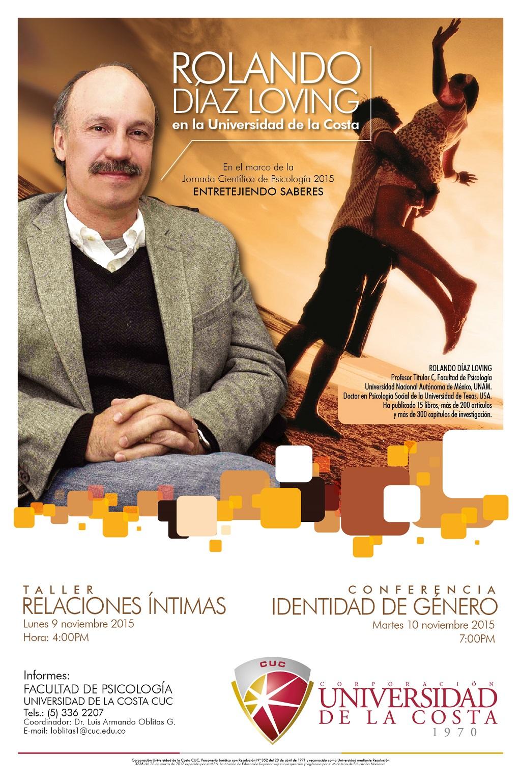 Afiche Rolando Diaz Loving en la CUC 2015