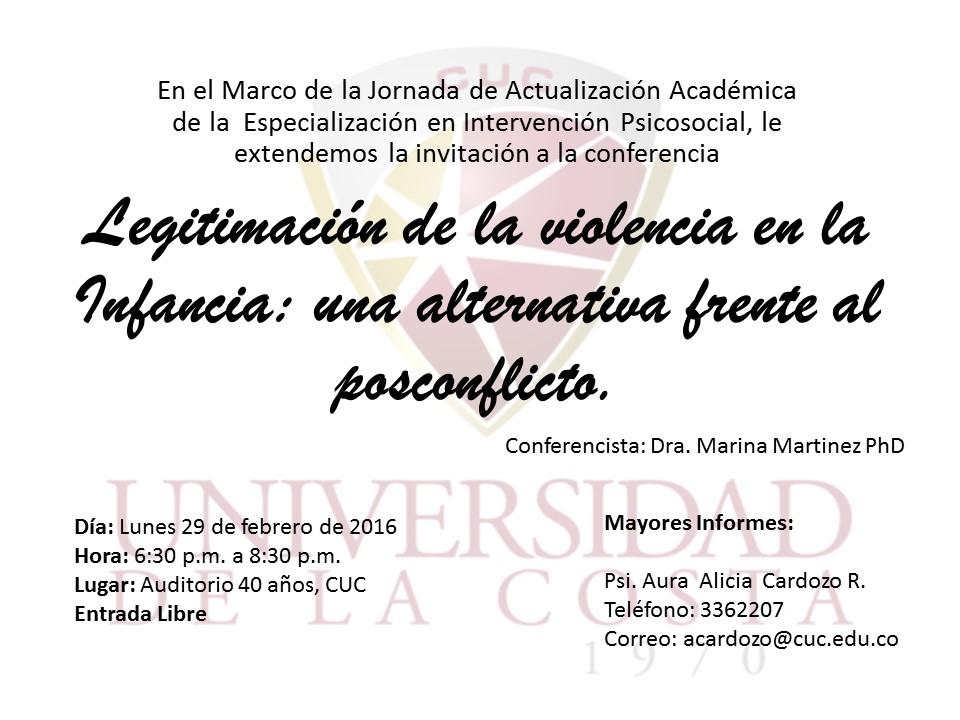 Invitacion a Jornada Intervencion Psicosocialjpg