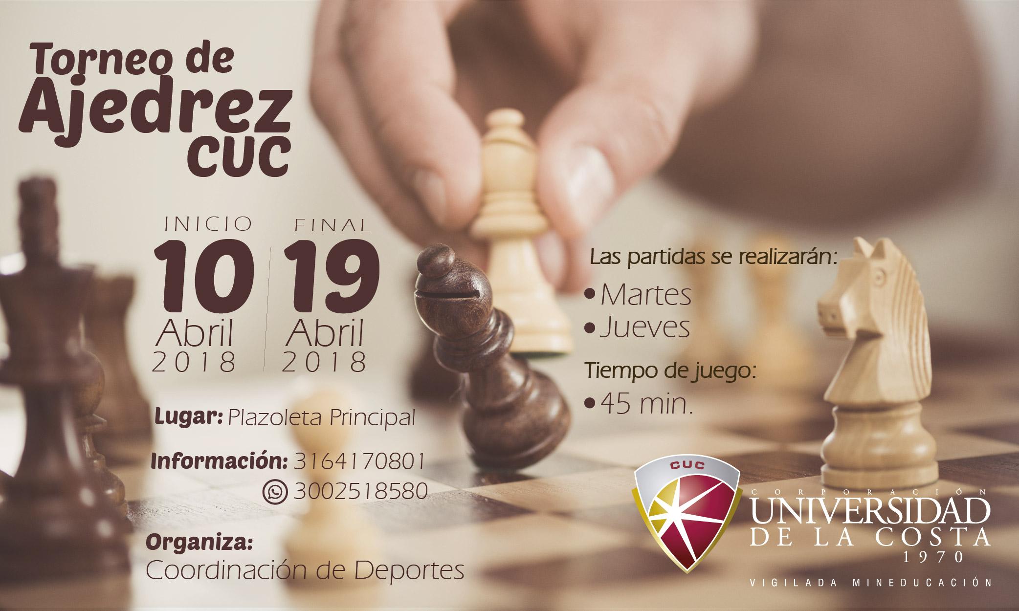 Torneo de Ajedrez CUC 2018 Mesa de trabajo 1