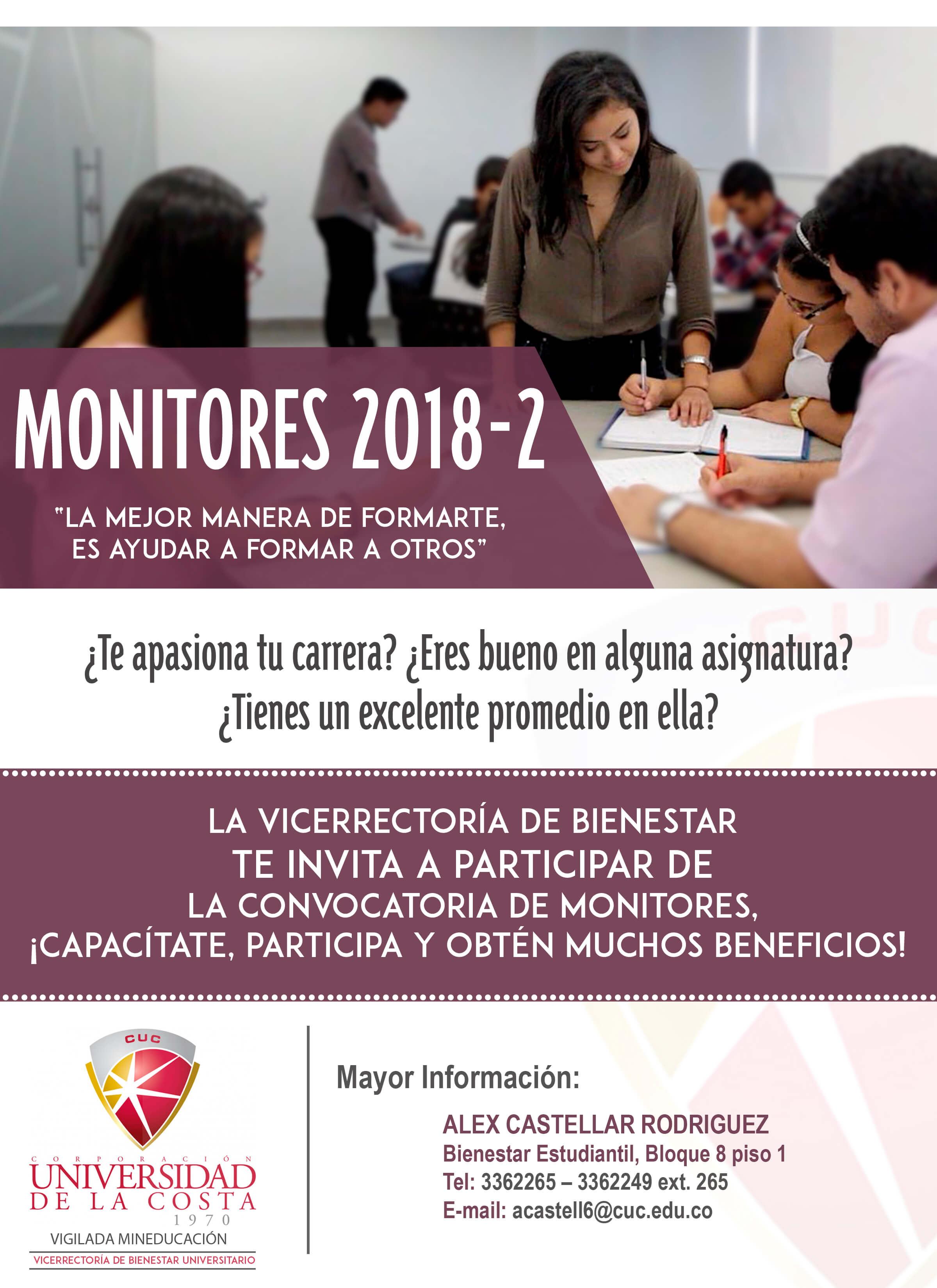 monitores flayer convocatoria 2018 2