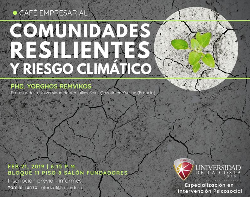 comunidades resilientes riesgo climatico