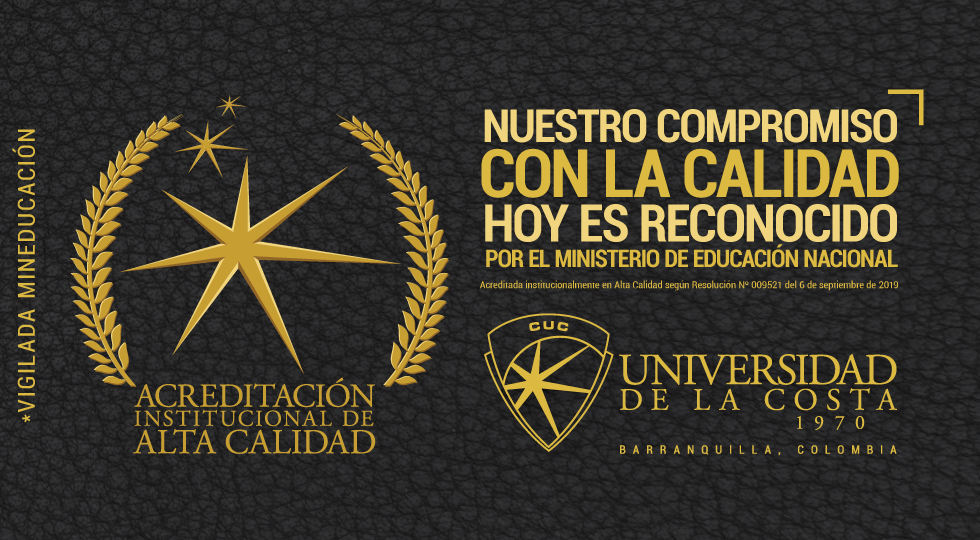 Banner cenefa fachada Acreditacion 2019 Universidad de la Costa