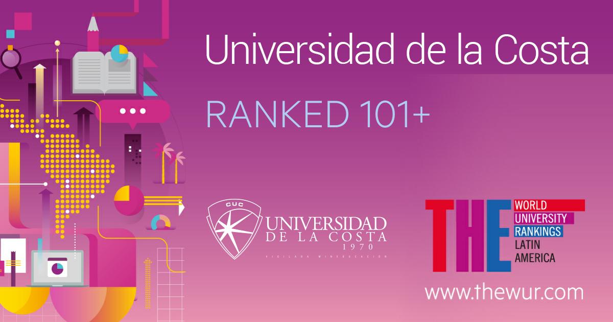 Universidad de la Costa Ranked 101 The world University Rankings Latin America