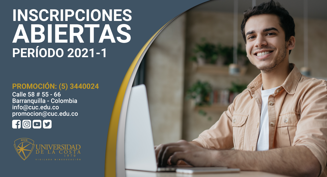 noticia Inscripciones abiertas 2021 1 universidad de la costa cuc