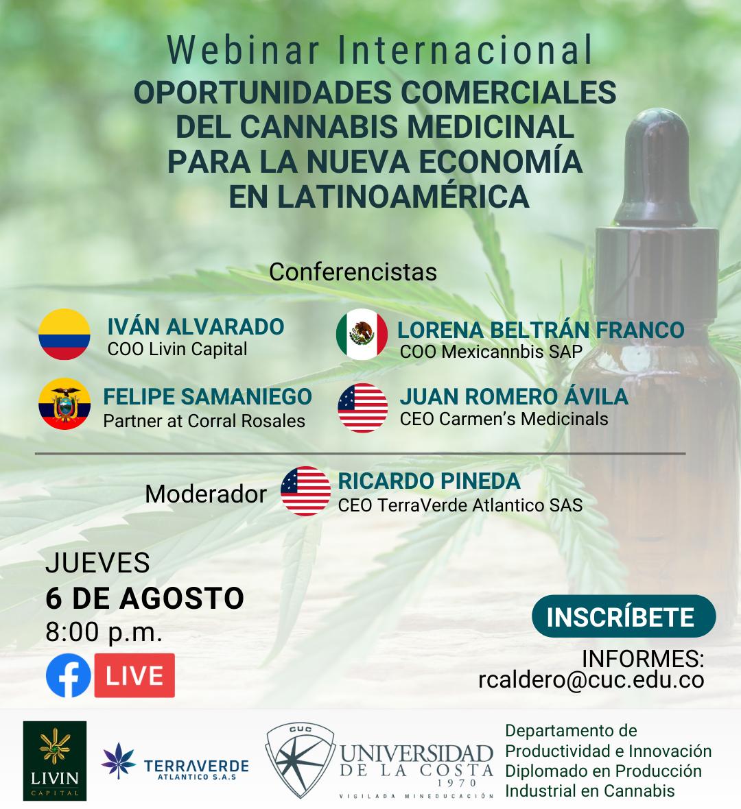 oportunidades comerciales cannabis universidad de la costa cuc