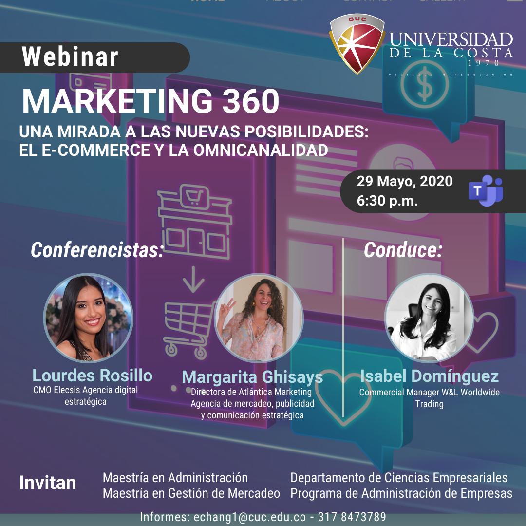 webinar Marketing 360 una mirada nuevas posibilidades ecommerce omnicanalidad universidad de la costa cuc