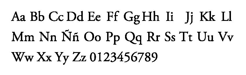 tipografia universidad de la costa imagen institucional garamond