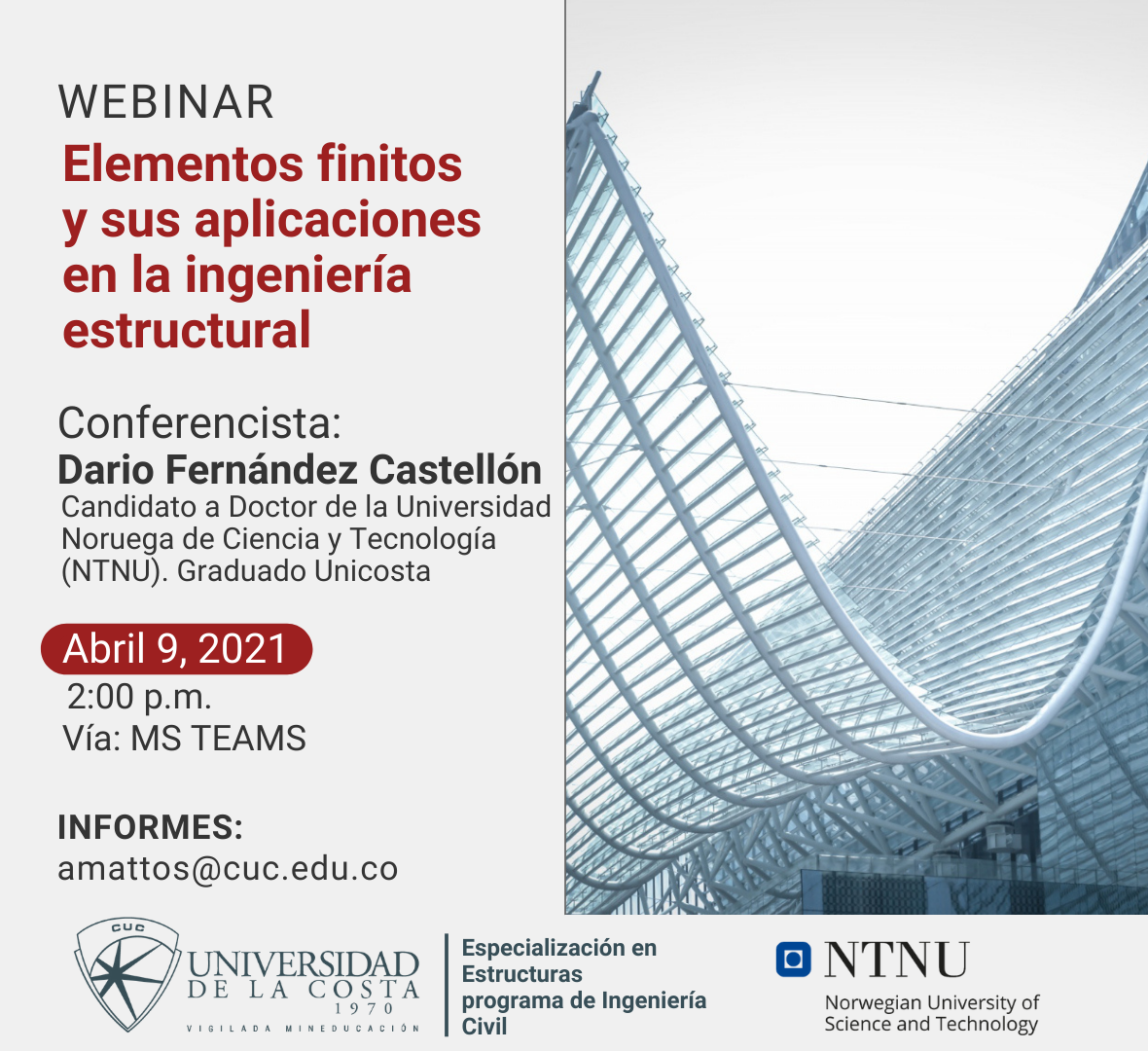 elementos finitos aplicaciones ingenieria estructural cuc