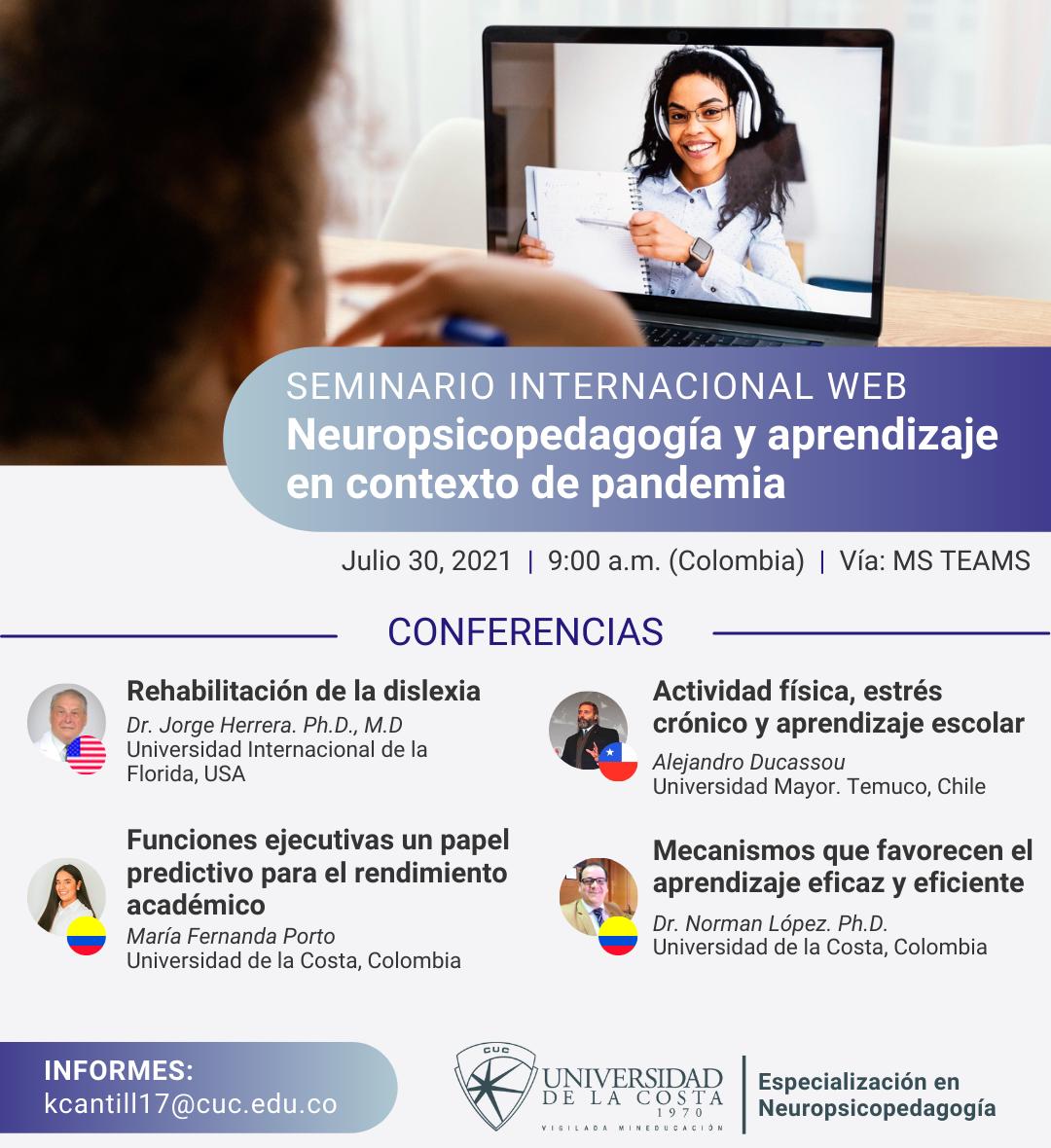 seminario neuropsicopedagogia aprendizaje unicosta cuc