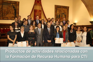 Productos de actividades relacionadas con la Formación de Recurso Humano para CTI