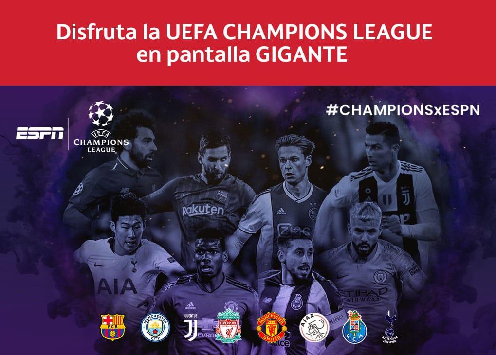 Disfruta la Champions League en pantalla gigante en Cinemex - Cinemex