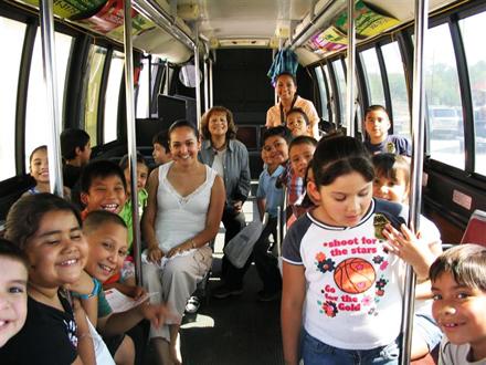 kids on Laredo bus