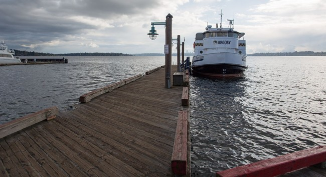 This dock at the Kirkland Marina, currently used by Argosy Cruises, might be a future foot-ferry port