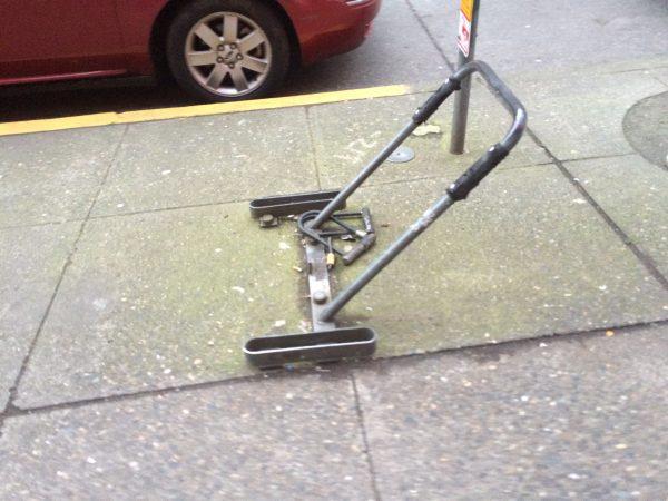 Old bike rack, Broadway E between E John and E Thomas Streets