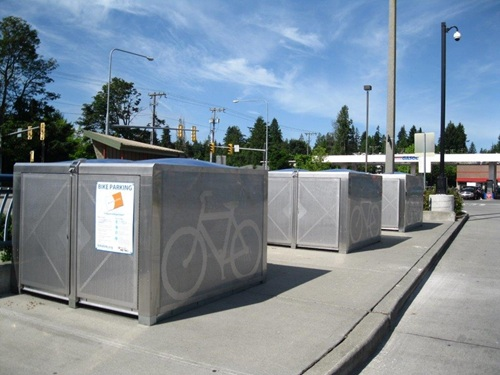 On-demand bike eLockers at Aurora Village