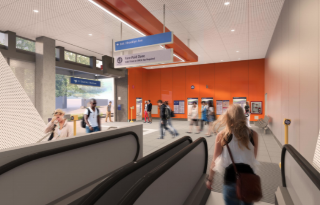 Rendering of the North Entrance of the future UDistrict Station (Sound Transit)