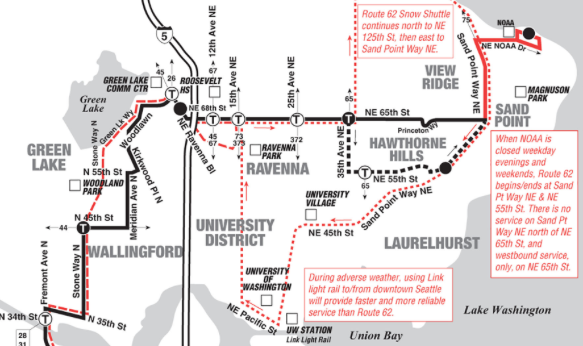 Route 62 Snow Route