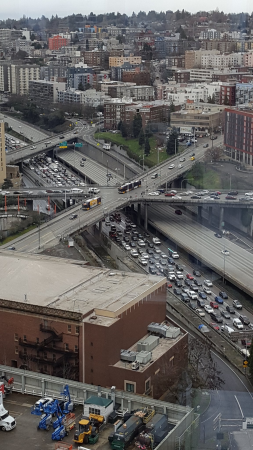 I-5 in downtown during the tanker mess.