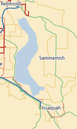 Metro 2040 map of east Bellevue and Sammamish