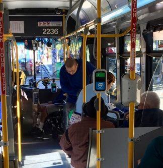 interior of Translink bus