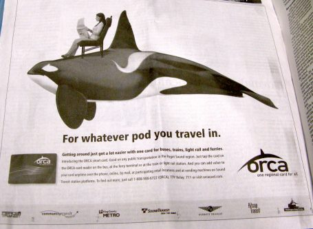 ORCA ad in the Seattle Times