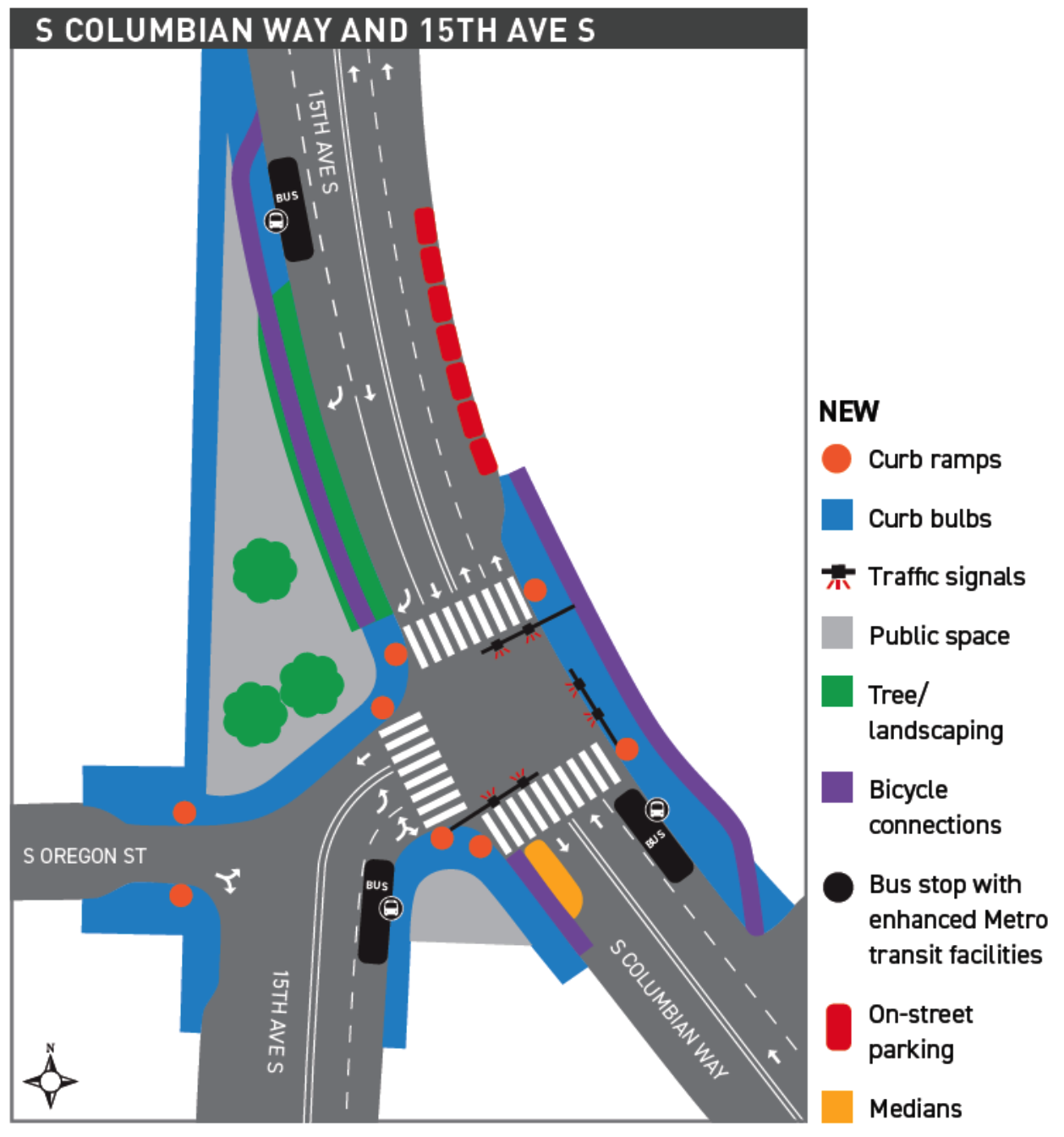 Map of SDOT's initial proposed design