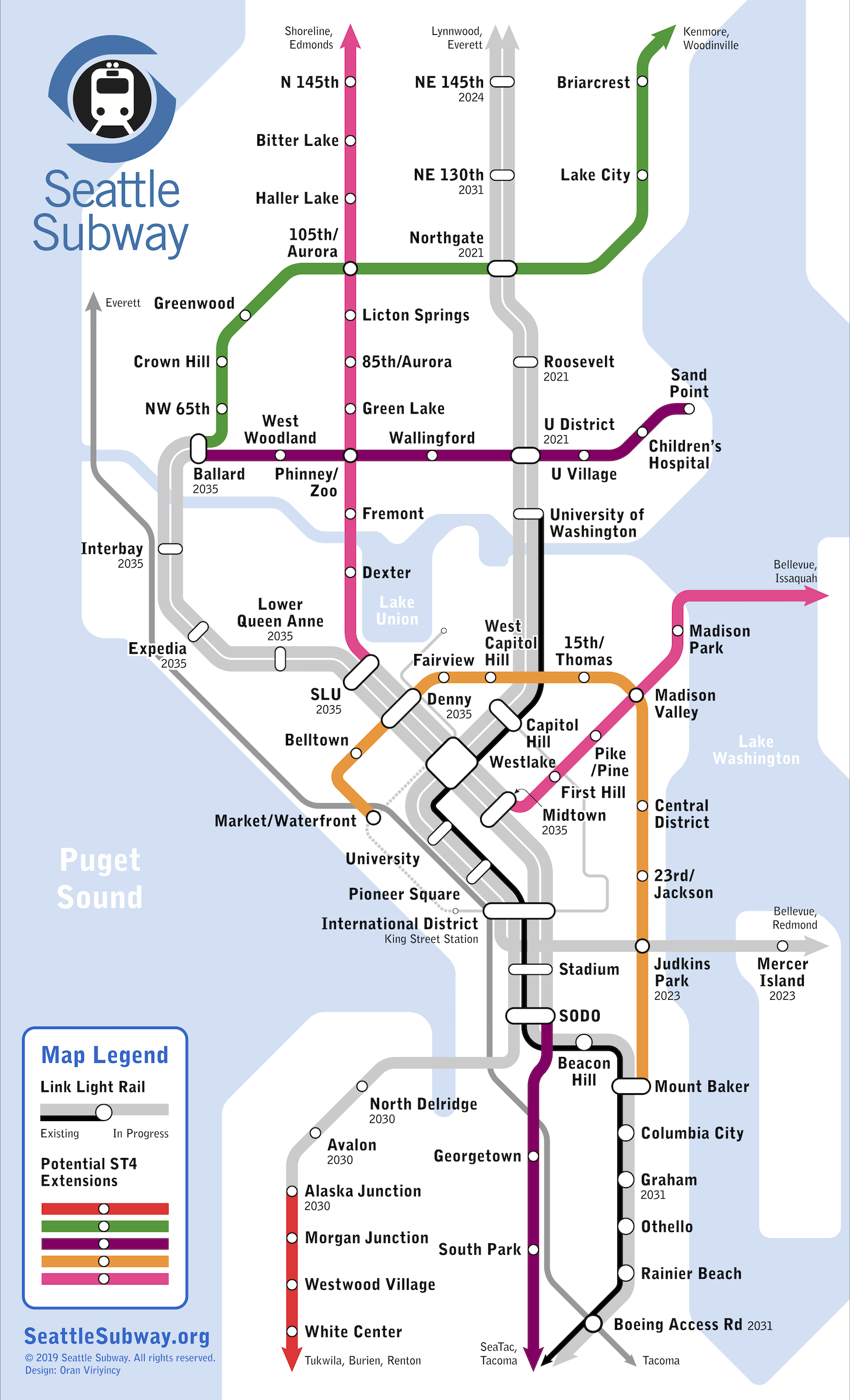 Ideal Nyc Subway Map Efficient.Seattle It S Time To Start Work On St4 Seattle Transit Blog