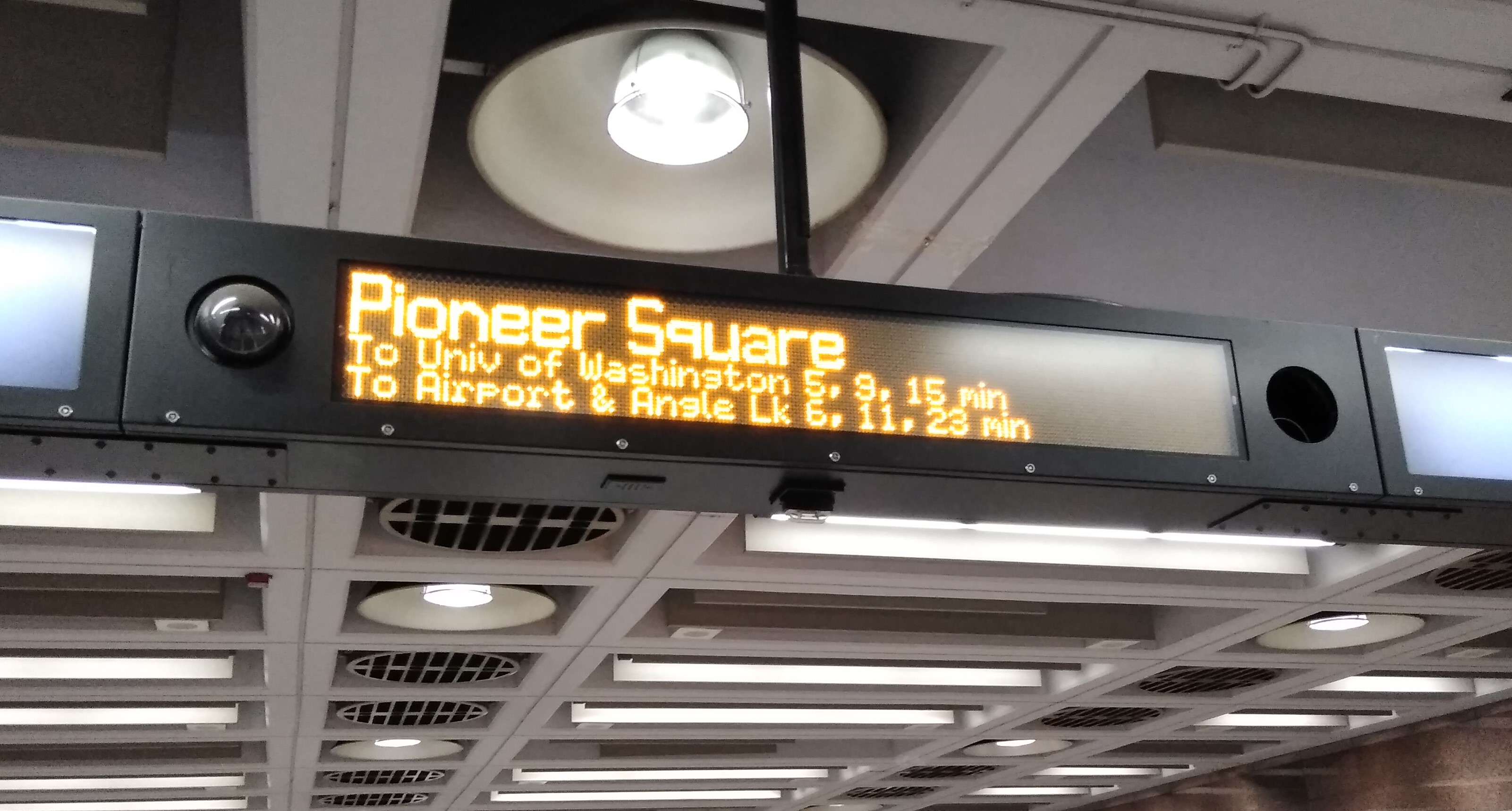 Next train signs are finally here