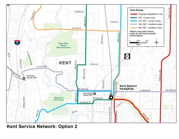 A map of proposed bus service in Kent.