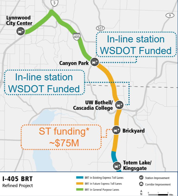 Sound Transit may build inline stop at Brickyard, shifting I-405 BRT