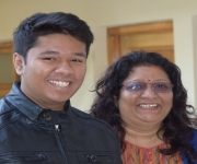 Ajinkya I. with mother
