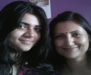 Pratyansha D with mother