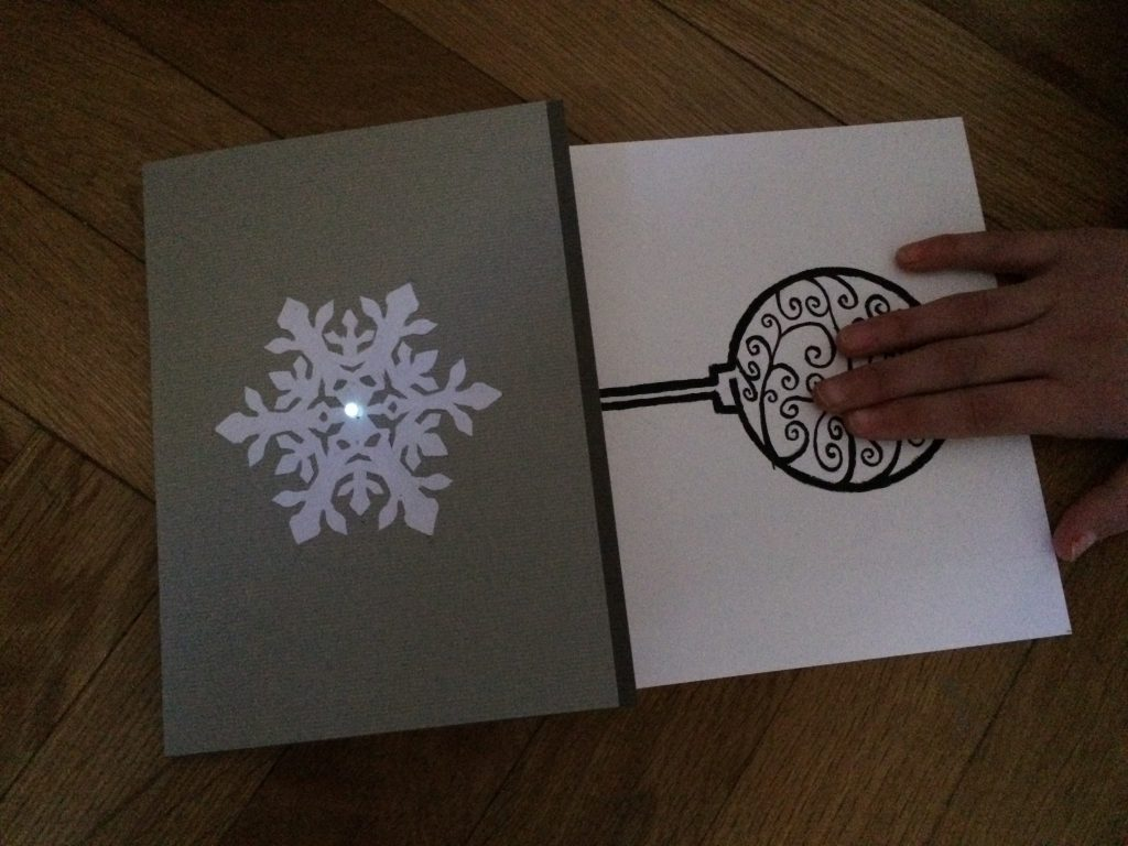 led christmas card
