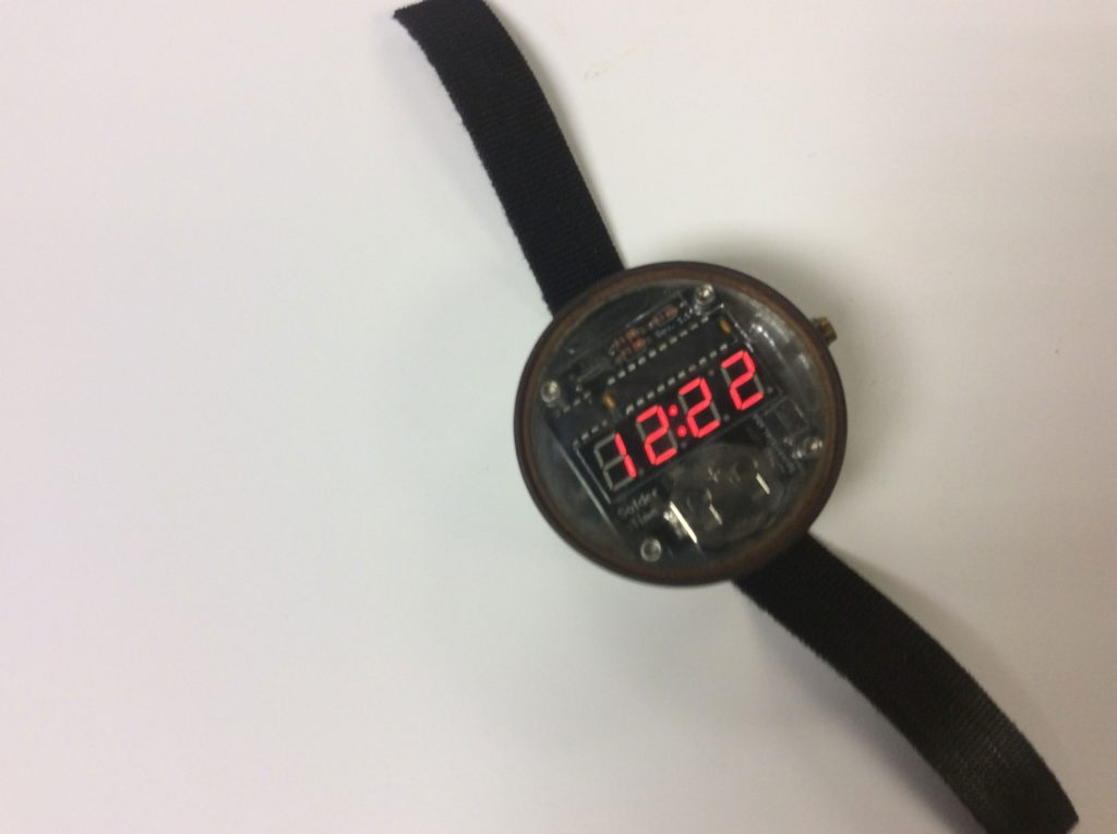 Soldertime watch in case