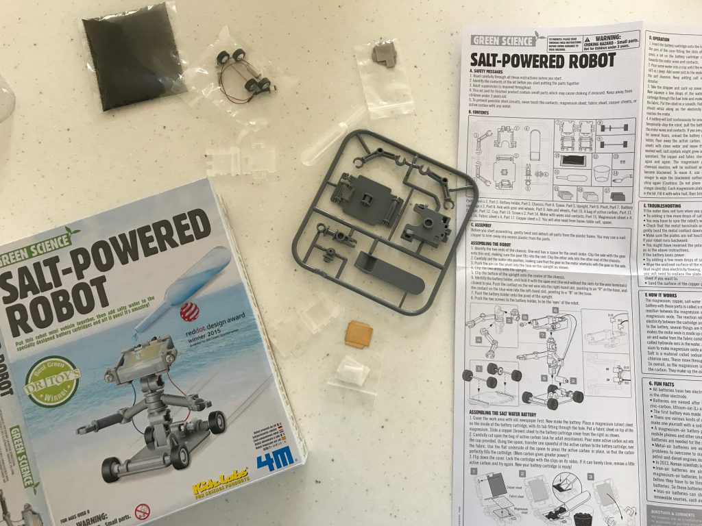 robot kit parts