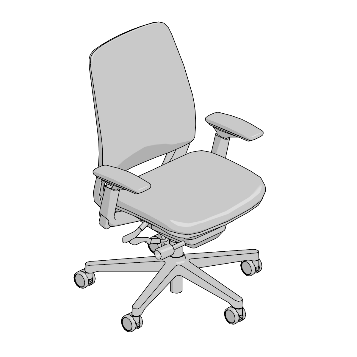 Pleasing 3D Models Archive Steelcase Theyellowbook Wood Chair Design Ideas Theyellowbookinfo