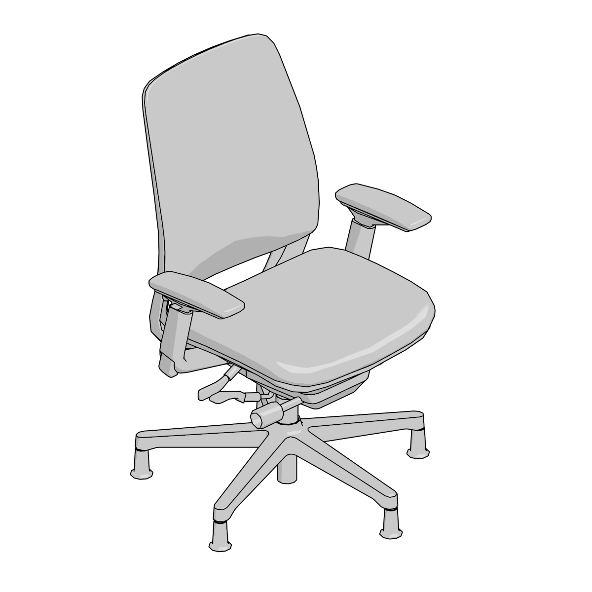 Peachy 3D Models Archive Steelcase Theyellowbook Wood Chair Design Ideas Theyellowbookinfo