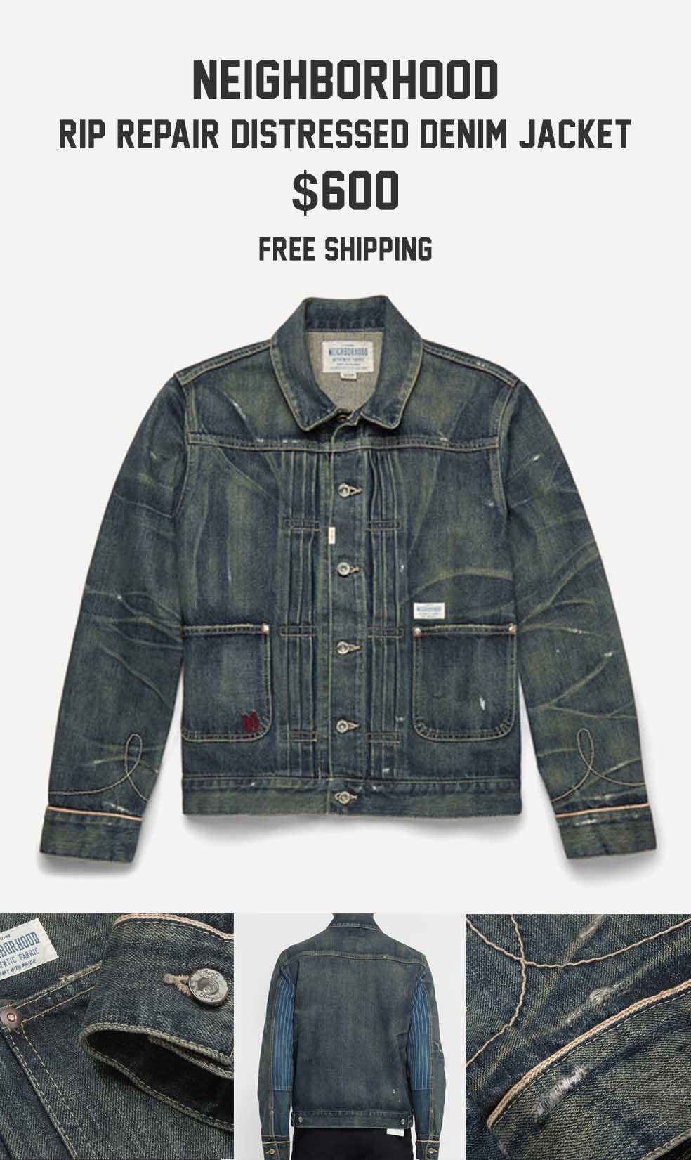 Stefan's Head - Fall Jackets Collection - Neighborhood Distressed Denim Jacket