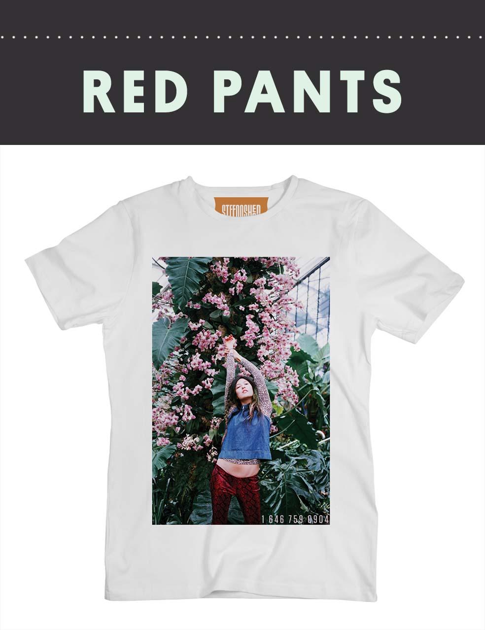 Stefan's Head - Francesca Allen - Red Pants