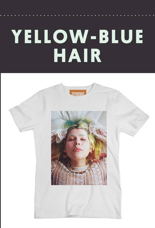 Stefan's Head - Francesca Allen - Yellow Blue Hair