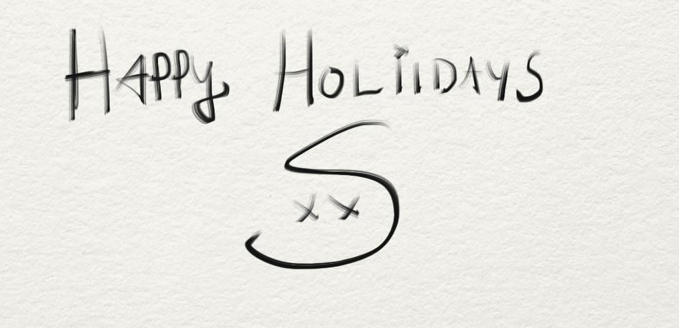 Stefan's Head - Stefan's Holiday Card